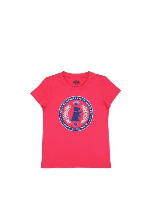 Juicy Couture | Fuchsia Dog Logo Printed Cotton Jersey T-Shirt