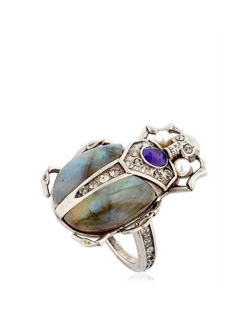Alexander McQueen | Серебристый Beatle Labradorite Stone Ring