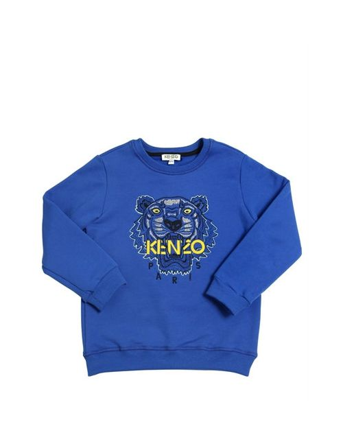 Kenzo Kids | Синий Embroidered Logo Patch Cotton Sweatshirt