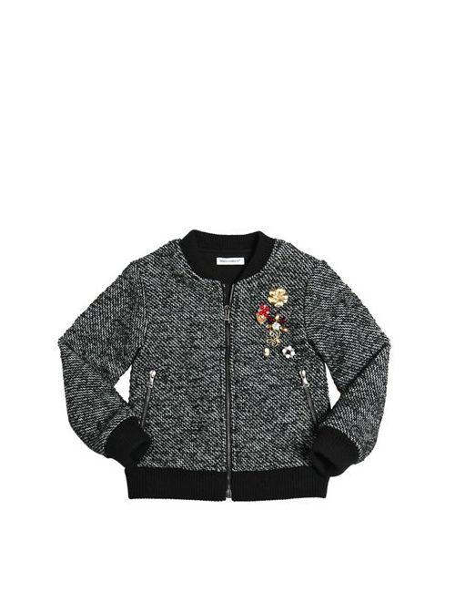 Dolce & Gabbana | Чёрный Embellished Woven Wool Bomber Jacket