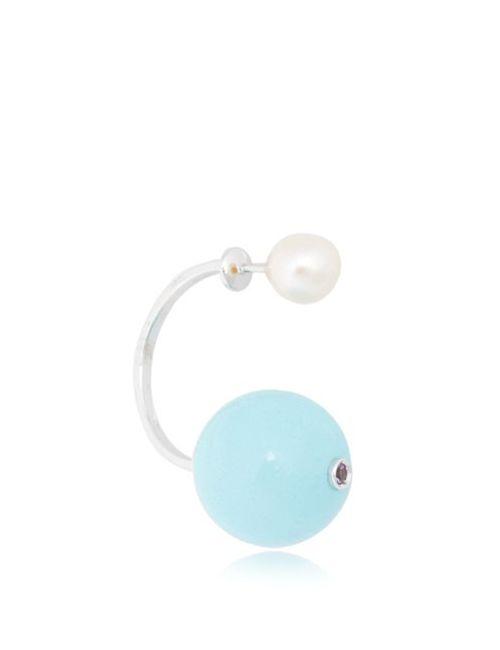 Delfina Delettrez | Синий Stone-Edge Earring