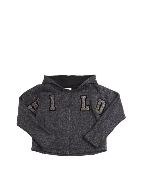 Diesel Kids | Серый Wild Patches Lurex Cotton Sweatshirt