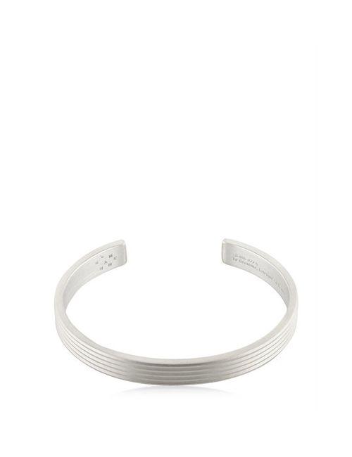 Le Gramme   Серебристый Le 23 Matte Guilloche Lines Bracelet