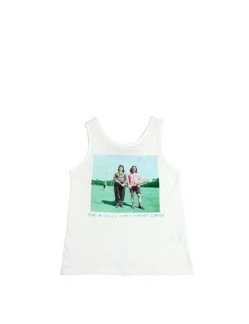 Nice Things Mini | Белый Burn Out Cotton Jersey Tank Top