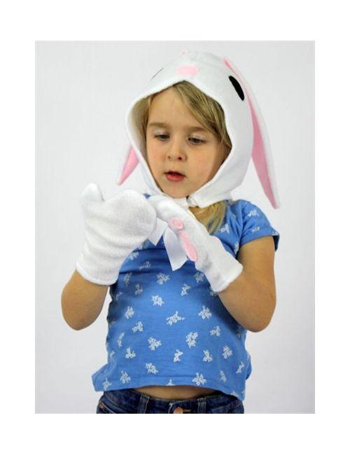 SPARROW & B | Белый Bunny Felt Bonnet Gloves Costume Set