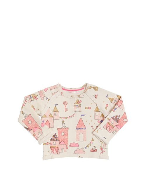 Billieblush | Бежевый Castle Printed Cotton Sweatshirt