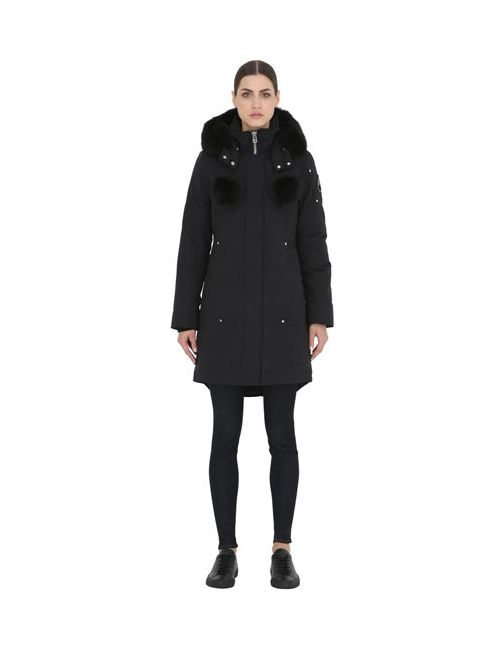 Moose Knuckles   Чёрный Stirling Parka Down Jacket W/ Fox Fur