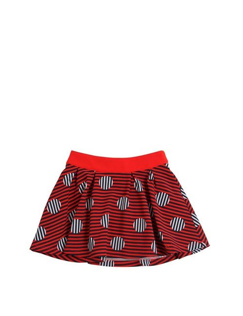 Little Marc Jacobs | Красный Polka Dot Stripe Textu Techno Skirt