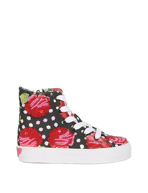 LK | Чёрный Embellished Canvas Sneakers For Lvr