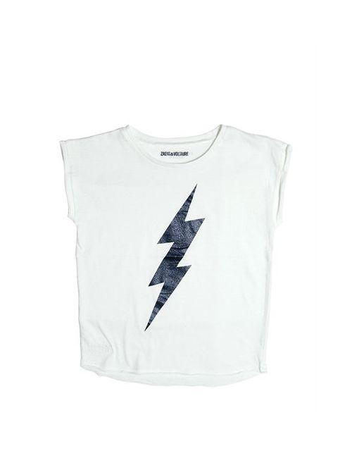 Zadig & Voltaire | Белый Lightning Bolt Cotton Jersey T-Shirt