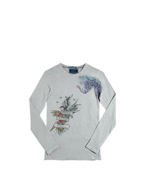 Myths | Серый Burn-Out Cotton Jersey T-Shirt