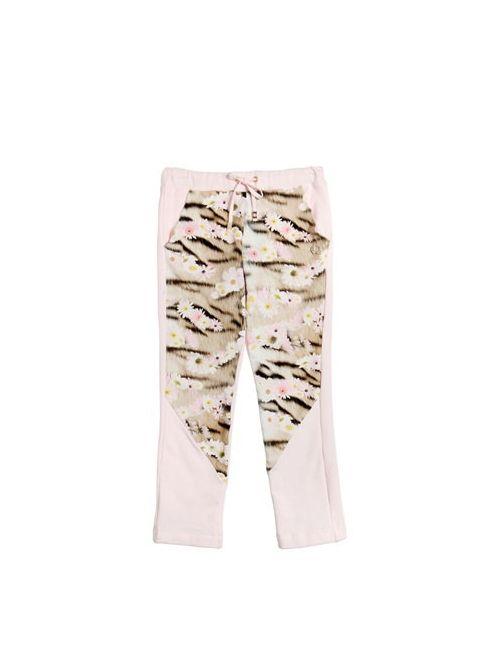 Roberto Cavalli   Розовый Floral Printed Cotton Jogging Pants