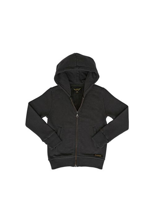 FINGER IN THE NOSE | Anthracite Hooded Zip Cotton Sweatshirt