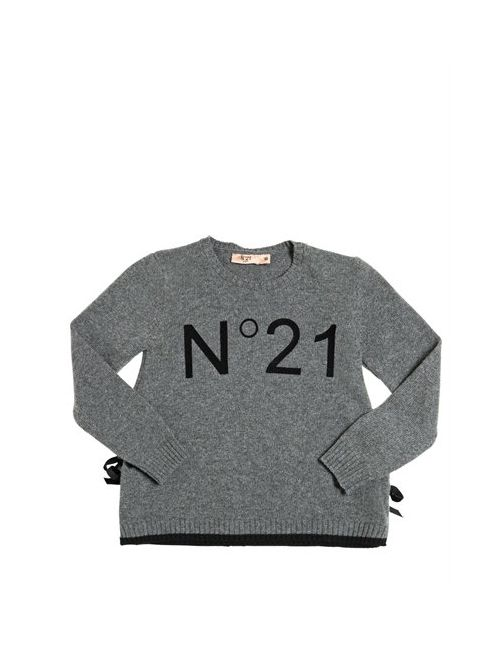 No21 | Серый Flock Printed Wool Blend Sweater