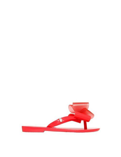 MINI MELISSA | Оранжевый Scented Bow Appliqué Flip Flops