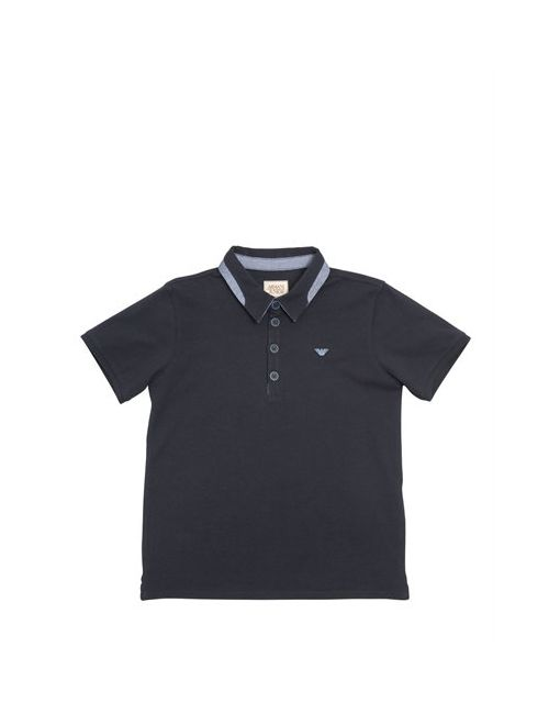 Armani Junior | Navy Cotton Piquè Polo Shirt
