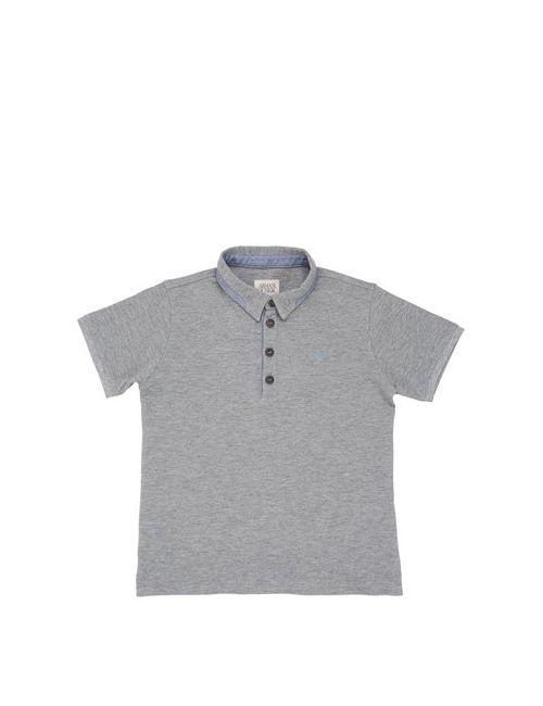 Armani Junior | Серый Cotton Piquè Polo Shirt