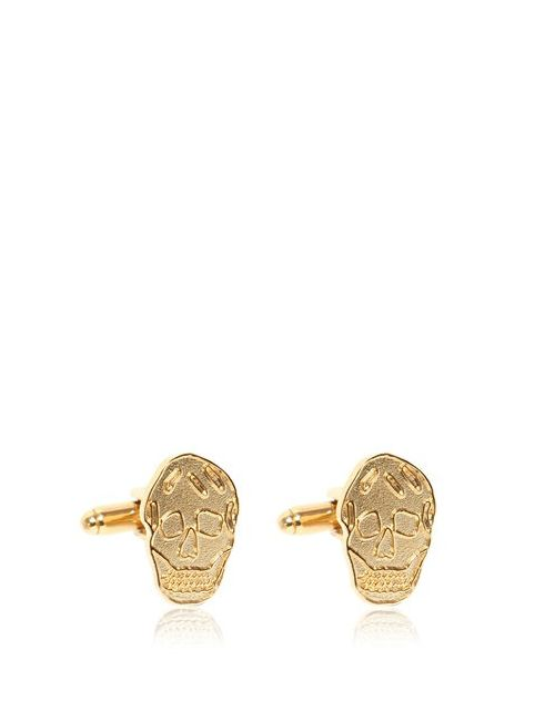 Alexander McQueen | Золотой Brass Skull Cufflinks
