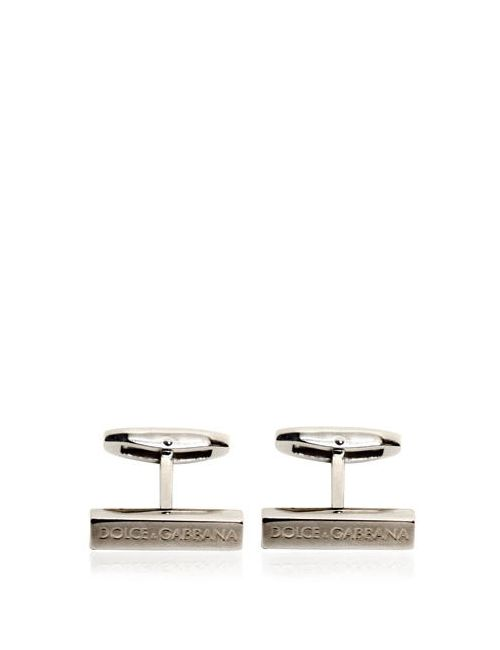 Dolce & Gabbana | Серебристый Logo Embossed Cufflinks