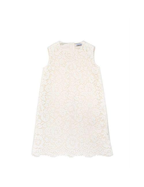 Dolce & Gabbana | Белый Cotton Blend Macramé Lace A-Line Dress