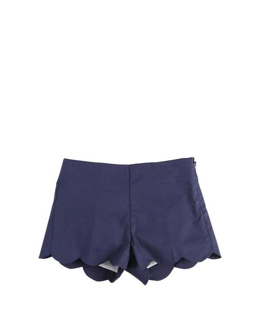 Il Gufo | Navy Stretch Cotton Poplin Shorts