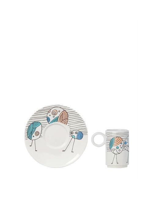 L'ABITARE | Белый Vain Peacocks Espresso Cup Set