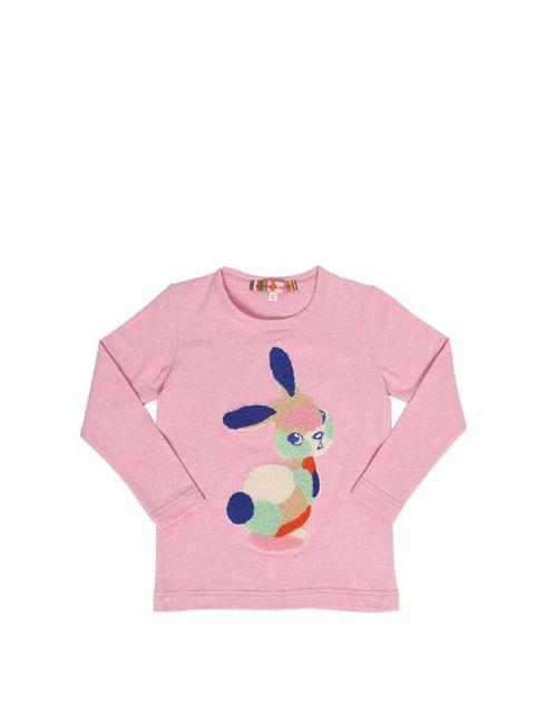 ANNE KURRIS | Розовый Bunny Terrycloth Patch Cotton T-Shirt