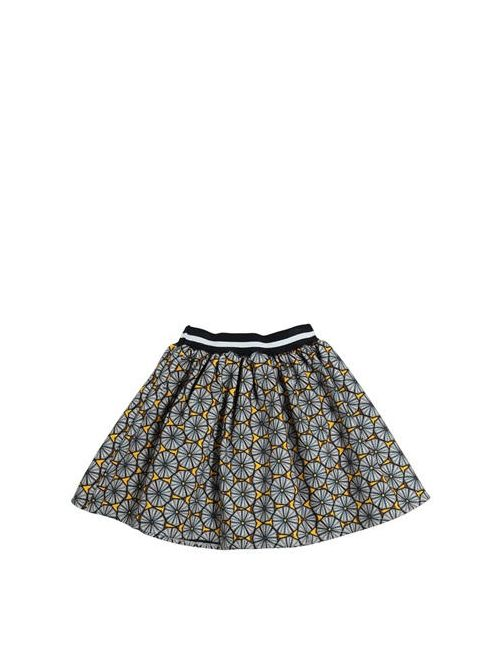 Stella Jean | Серый Printed Doubled Cotton Round Skirt