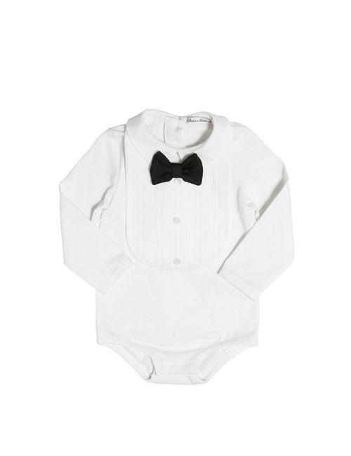 Dolce & Gabbana | Белый Cotton Jersey Bodysuit Plastron Bib