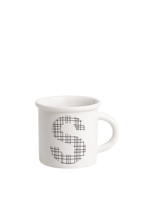 ILARIA.I | Чёрный Letter S Porcelain Mug