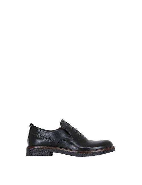 Momino | Чёрный Leather Slip-On Shoes