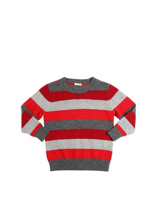 Il Gufo   Серый Striped Merino Wool Sweater