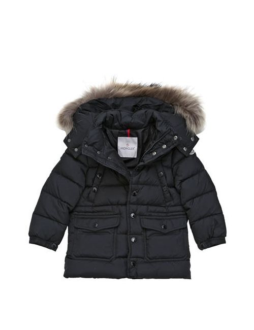 Moncler | Чёрный New Seneca Nylon Down Jacket W/ Fur