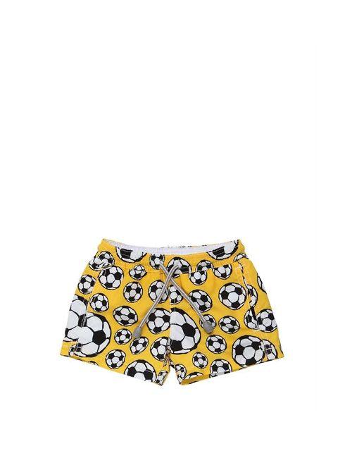 Mc2 Saint Barth | Желтый Soccer Balls Printed Nylon Swim Shorts