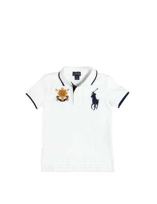 RALPH LAUREN CHILDRENSWEAR | Белый Big Pony Cotton Piqué Polo Shirt