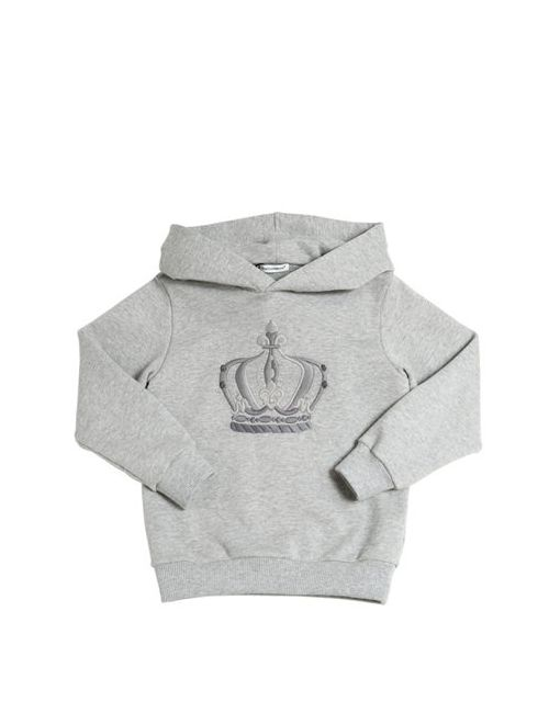 Dolce & Gabbana | Серый Hooded Royal Cotton Sweatshirt