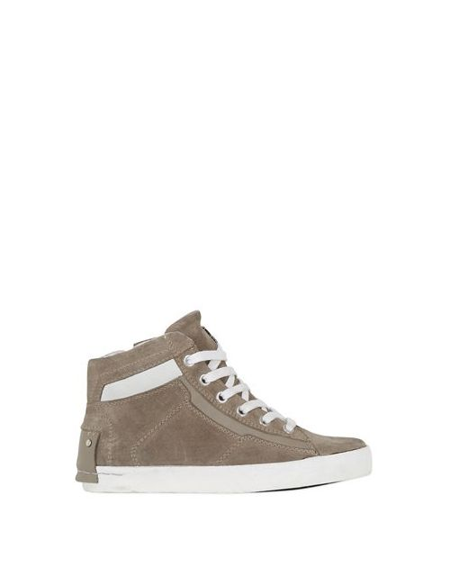 Crime | Mud Suede Nappa Leather High Top Sneakers