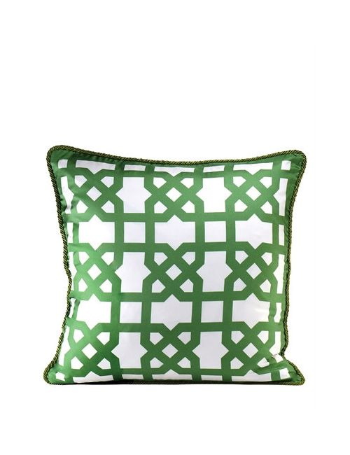 ALEXANDRA D.FOSTER | Белый London Printed Silk Pillow