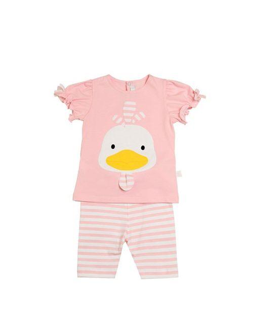 Il Gufo | Розовый Duckling Cotton Jersey T-Shirt Pants