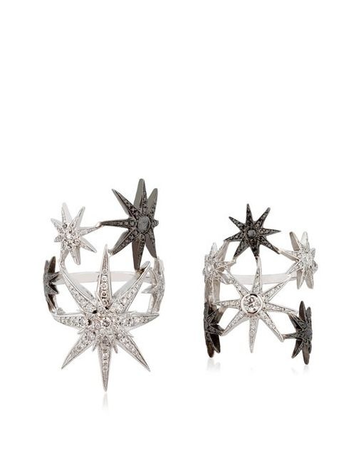 COLETTE JEWELRY | Чёрный White Star Ring Set