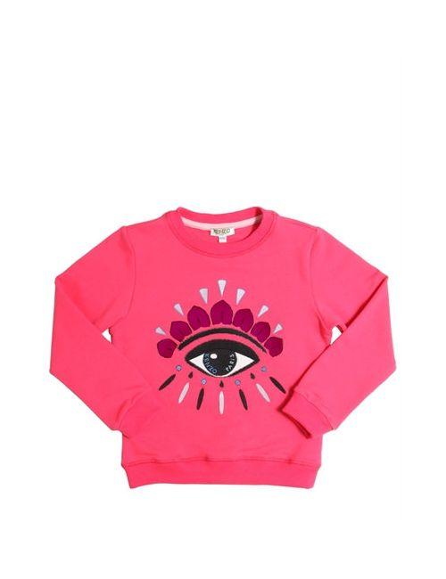 Kenzo Kids | Fuchsia Eye Embroidered Cotton Sweatshirt