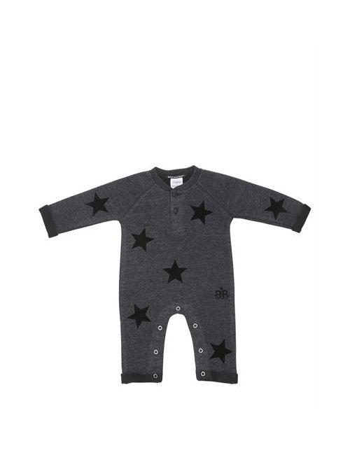 ROCK STAR BABY | Серый Star Printed Cotton Romper