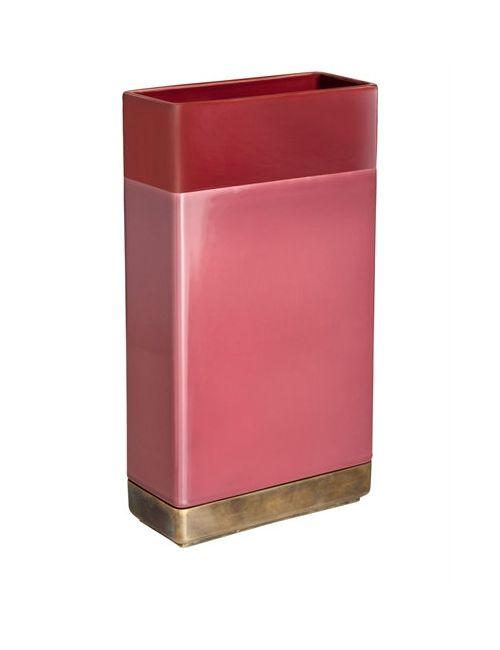 DIMORESTUDIO | Золотой Rectangular Ceramic Brass Vase
