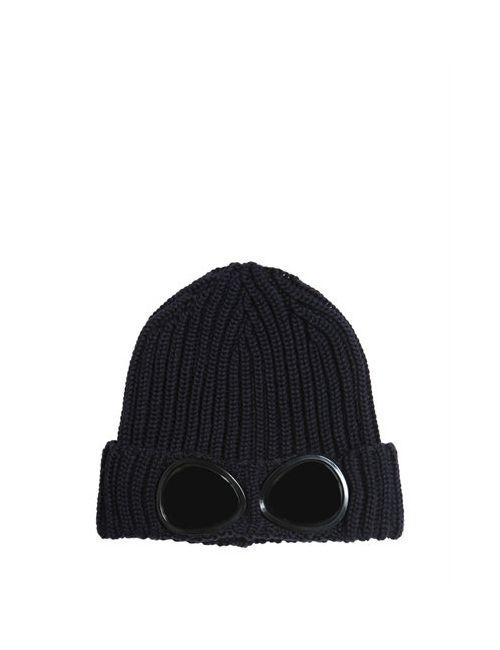 C.P.COMPANY UNDERSIXTEEN | Navy Ribbed Tricot Extra Fine Merino Wool Hat