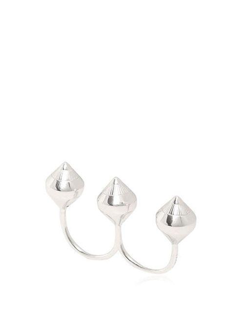 LARA BOHINC   Серебристый Eye Double Finger Ring