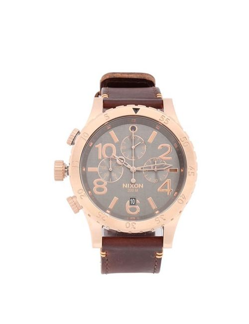 Nixon | Коричневый The 48-20 Chronograph Leather Watch
