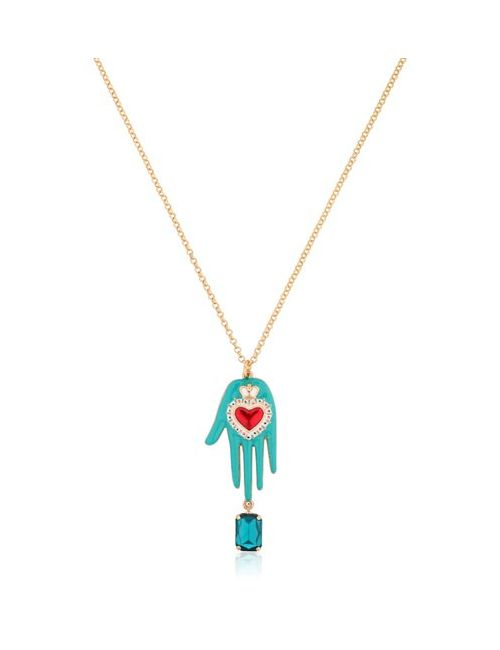 TOMMASO LONARDO | Turquoise Hand Pendant On Chain Necklace