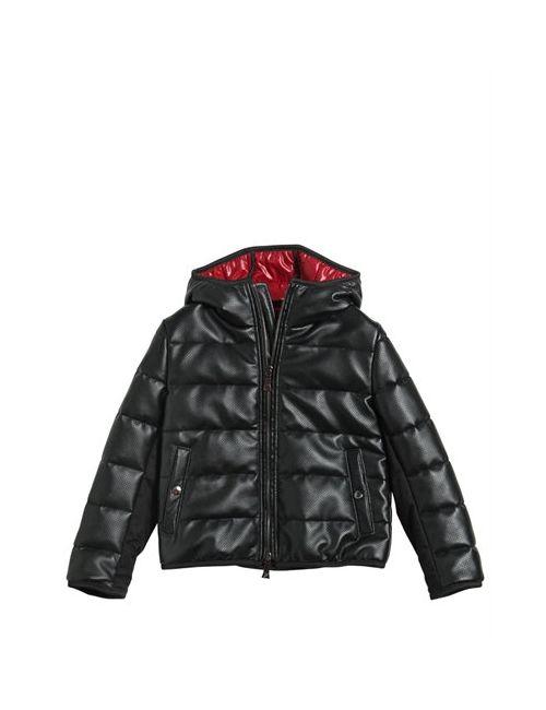 RICHMOND JUNIOR   Чёрный Faux Leather Nylon Down Jacket