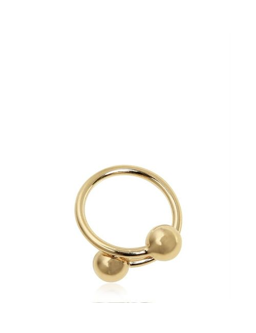 J.W. Anderson | Золотой Double Ball Plated Brass Ring