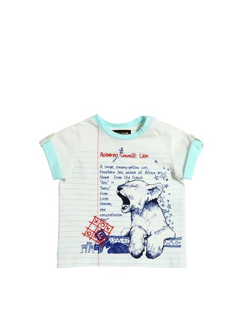 Roberto Cavalli | Белый Lion Cub Printed Cotton Jersey T-Shirt